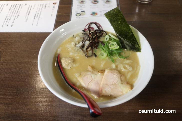 濃厚鶏白湯そば 780円