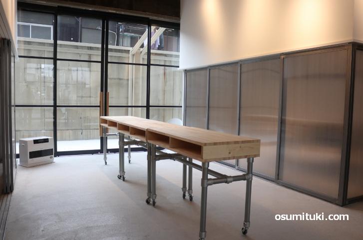 ギャラリーにも利用できるように空間設計されていました