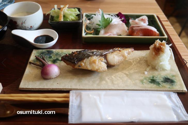 糀を使った焼き魚(さわら)素晴らしく美味しい
