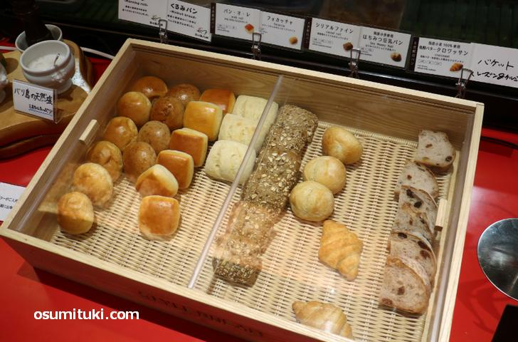 食べ放題のパンは種類も豊富です