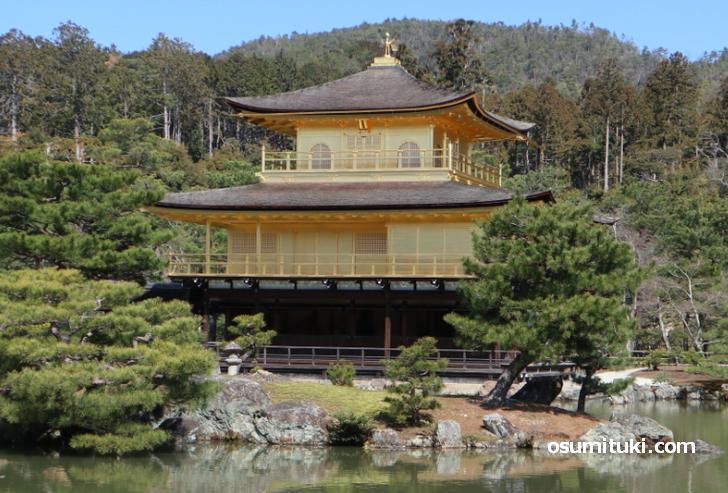 金閣寺に新しい参拝路が開通