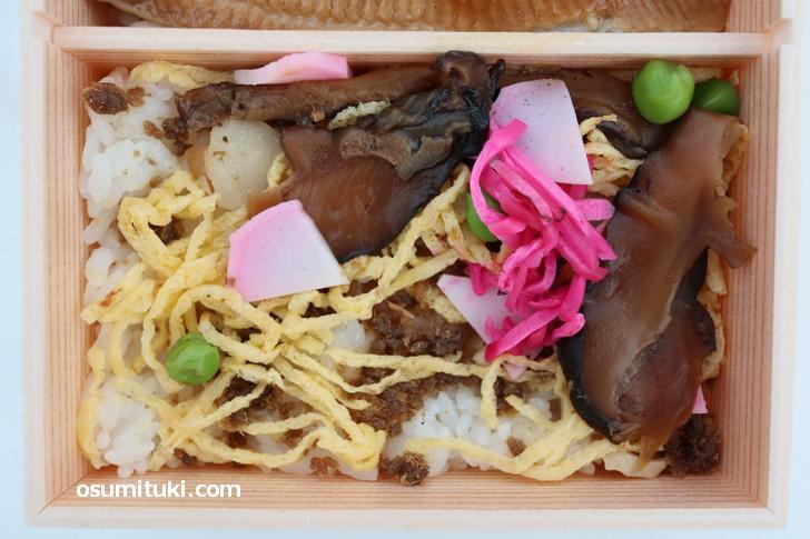 鯖のおぼろ寿司、鯖街道のある京都ならではの料理です