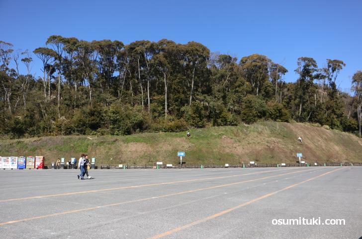 団体観光バスの駐車がゼロという異常事態の金閣寺(2020年3月12日撮影)