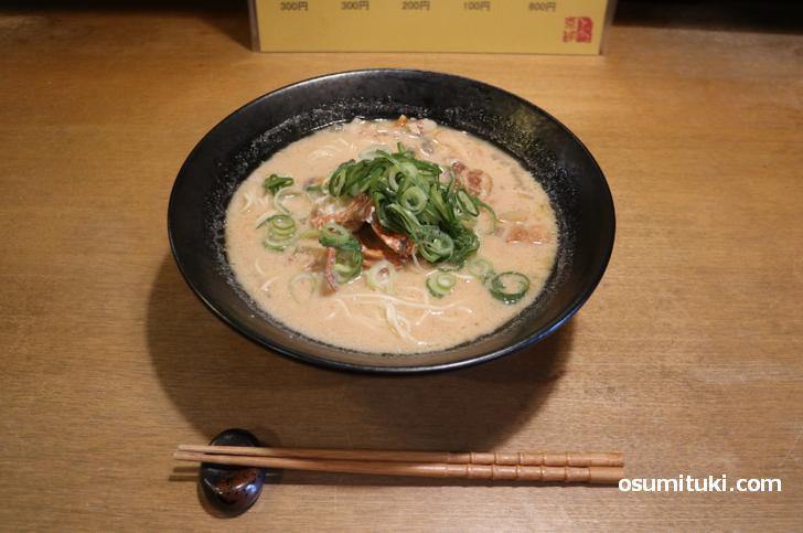 酒粕海鮮ラーメン(800円)