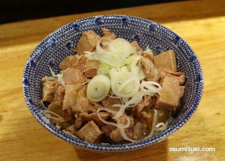 ぼんぼ丼(焼豚丼、350円)