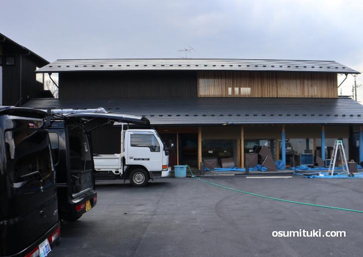 2020年春オープン ラー麺 天笑(外観写真、工事中)