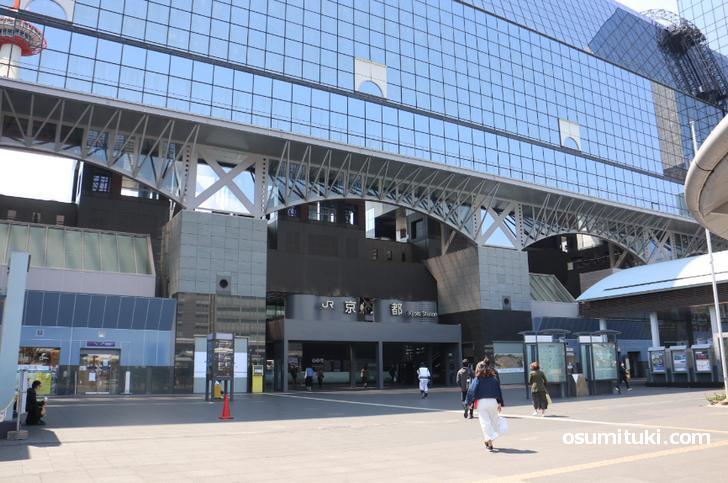 JR京都駅前に人がここまでいないのは驚きです
