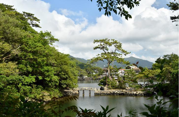 山口県萩市にある海水の池「明神池」がナニコレ珍百景で紹介