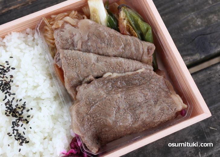 三嶋亭のコスパ最強すき焼き弁当、お高い肉がたくさん