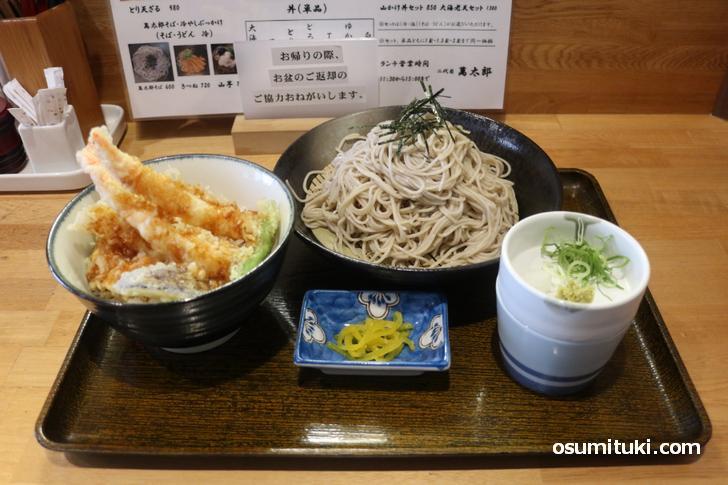 蕎麦(2玉)と天どんセット