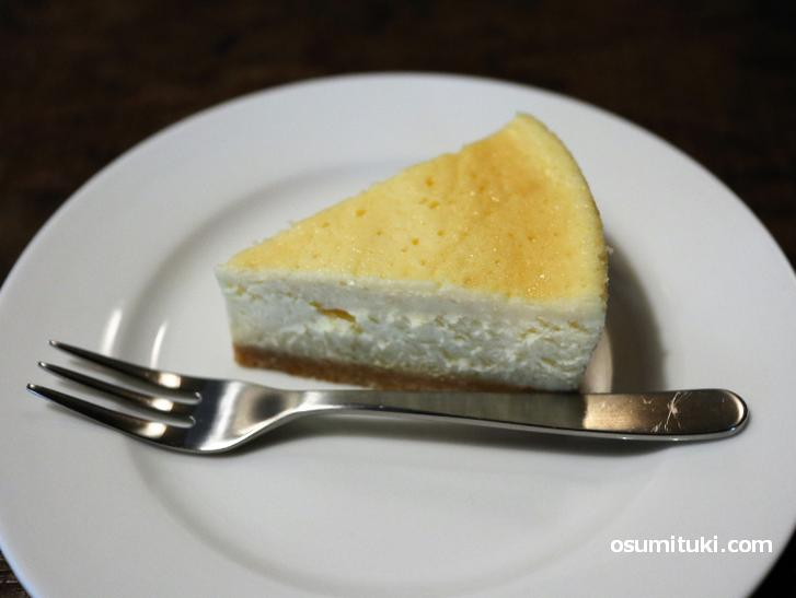 チーズケーキがかなり美味しい