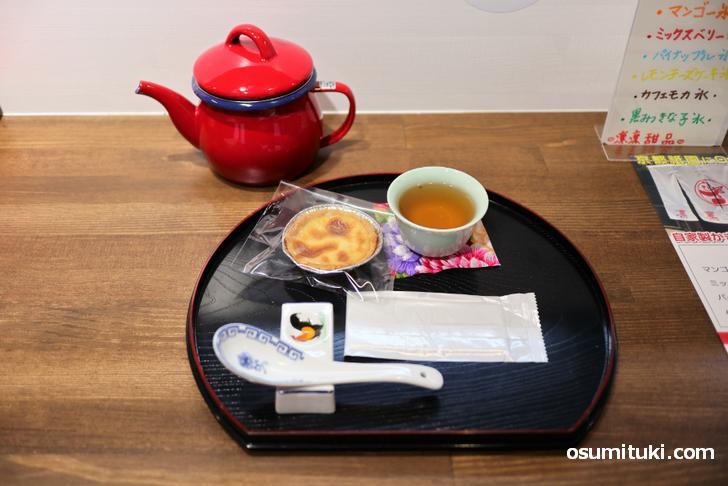 さらに中国茶がポットで付きます