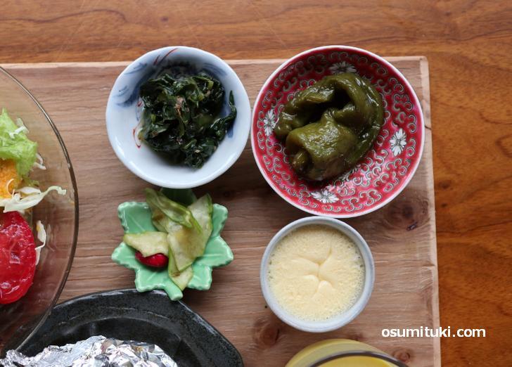 小皿が4品!野菜の力強さを感じます