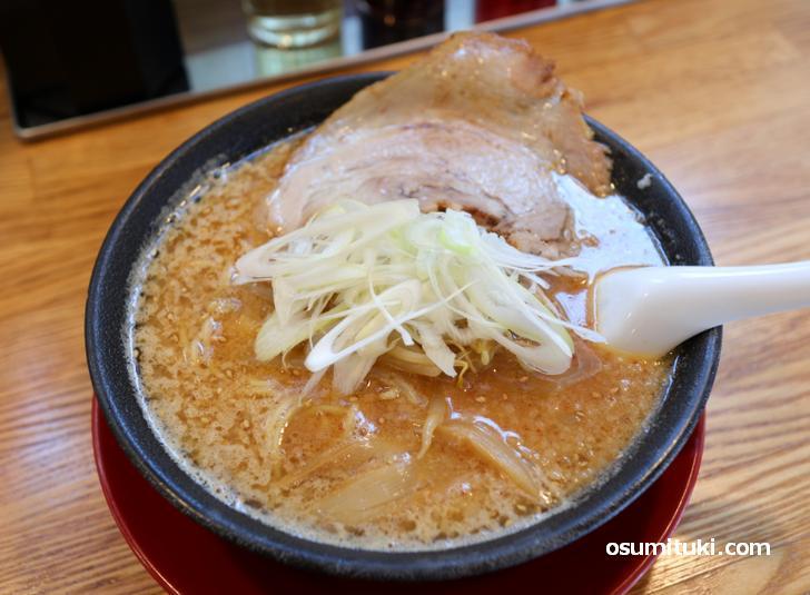 味噌ラーメン(太麺変更)1000円