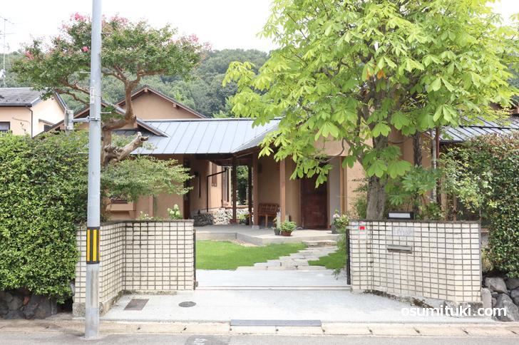 京都カフェ「花辺」の店舗外観写真