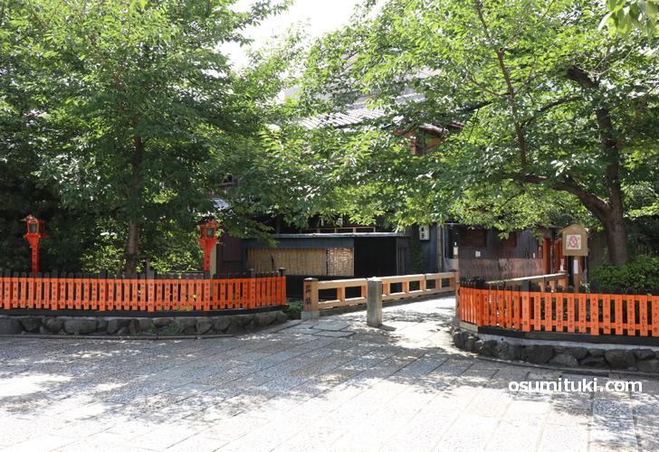 京都名所「巽橋」のすぐ近くです