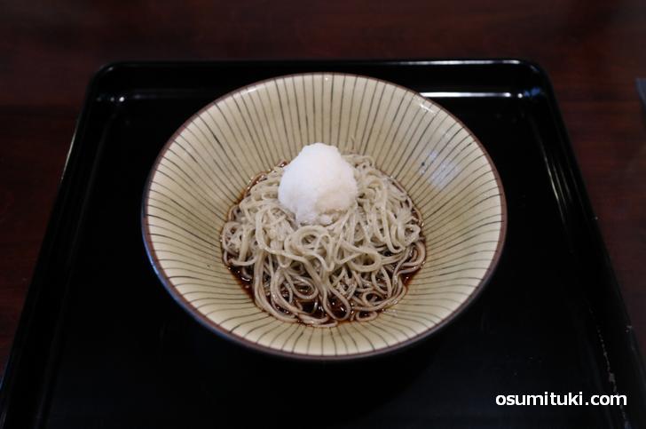 辛味大根おろしそば(1200円)