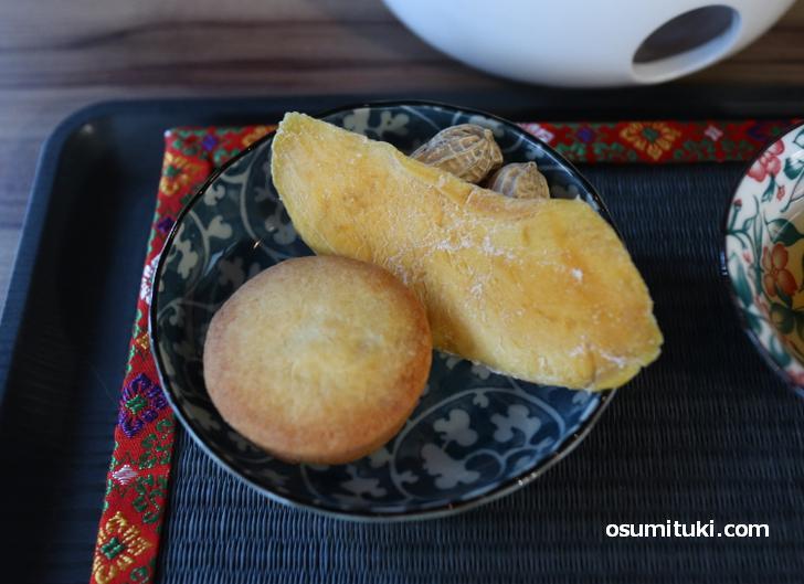 パイナップルケーキ、干しマンゴー、台湾ピーナツ