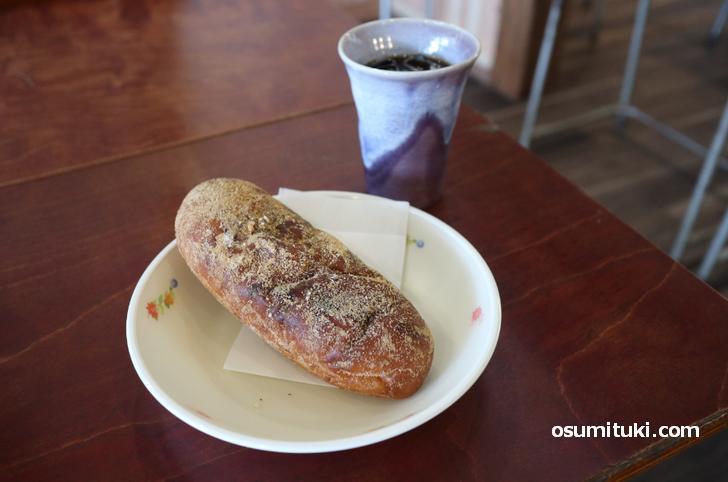 揚げパン(大、250円)ふわふわして美味しい