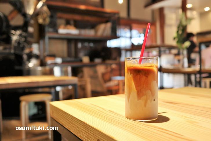 シッカリとした苦み、ミルクとのバランスもよく美味しいカフェラテがあります