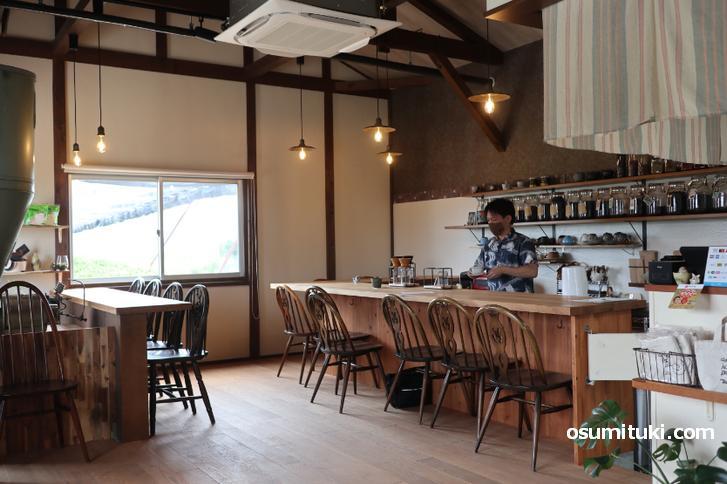 元は農家の精米小屋を改装したカフェ