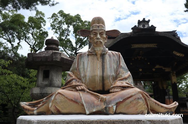 豊国神社にある豊臣秀吉の像