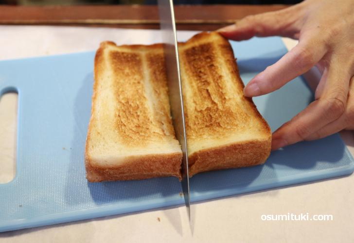 トーストにした方が美味しいはずだと思い試してみました