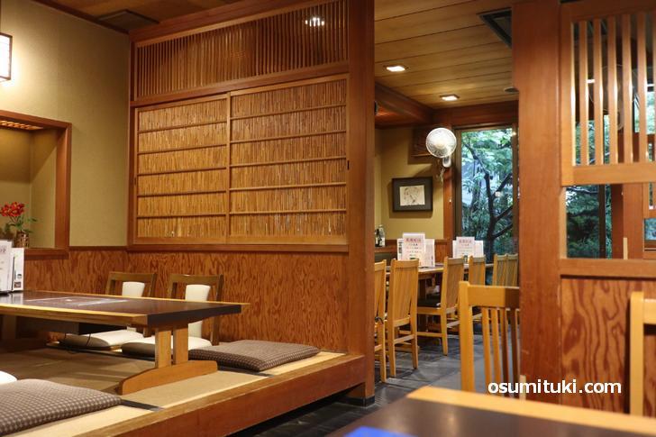 京都市北区にある蕎麦店「京都団楽」