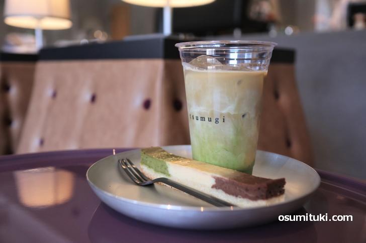 JR京都駅前のオープンカフェ「tsumugi cafe」