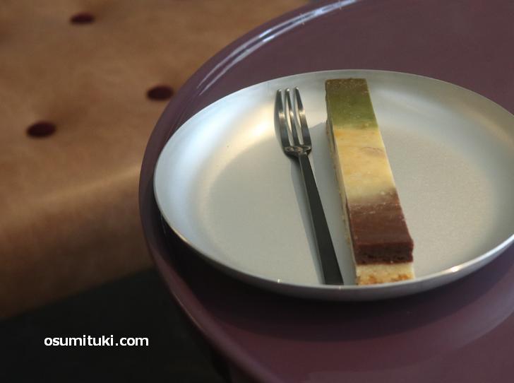 グリーンティー マーブル チーズケーキ(350円)
