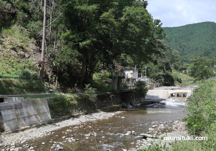 賀茂川の取水場
