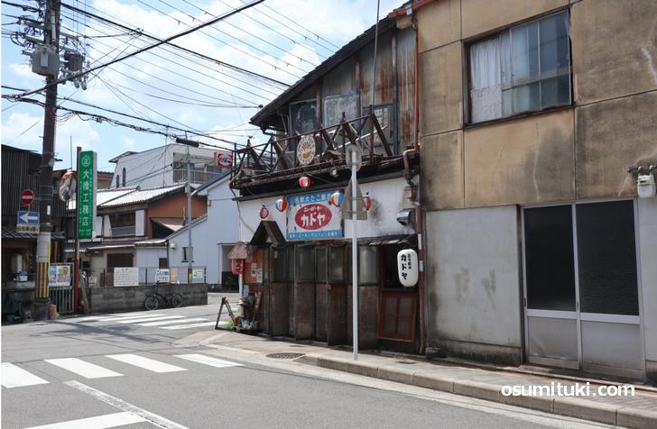 京都市北区「船岡温泉」北東すぐのところにある喫茶コバ(カドヤ間借り)