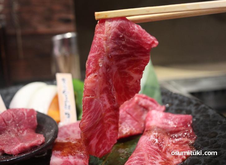 京たんくろ和牛(みすじ)力強い赤身肉の味わい