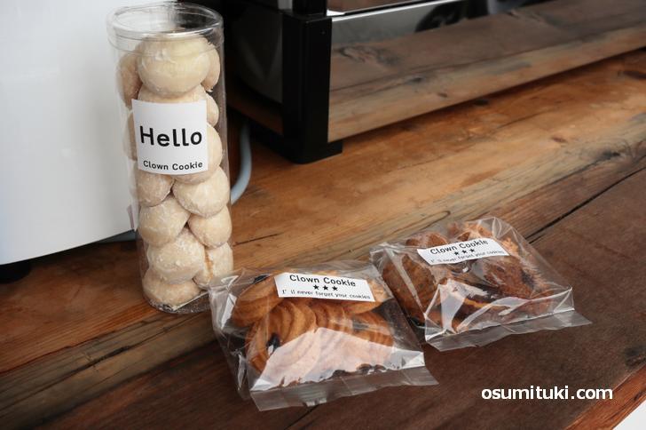 クラウンクッキーの焼き菓子も販売しています
