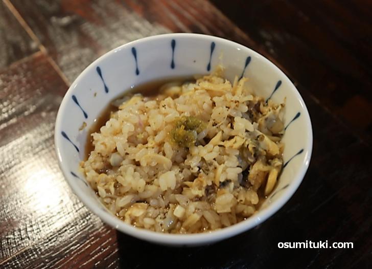 あさりの炊き込みご飯(150円)