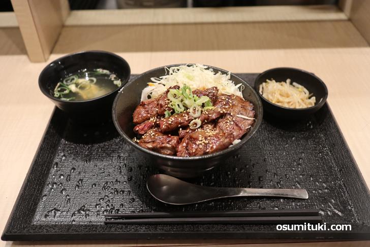 ハラミ丼(ご飯普通)