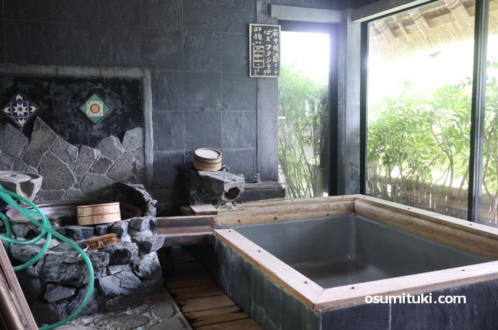 とても開放的なお風呂