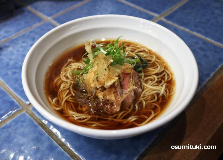 鴨 黒そば(たまり醤油)1000円