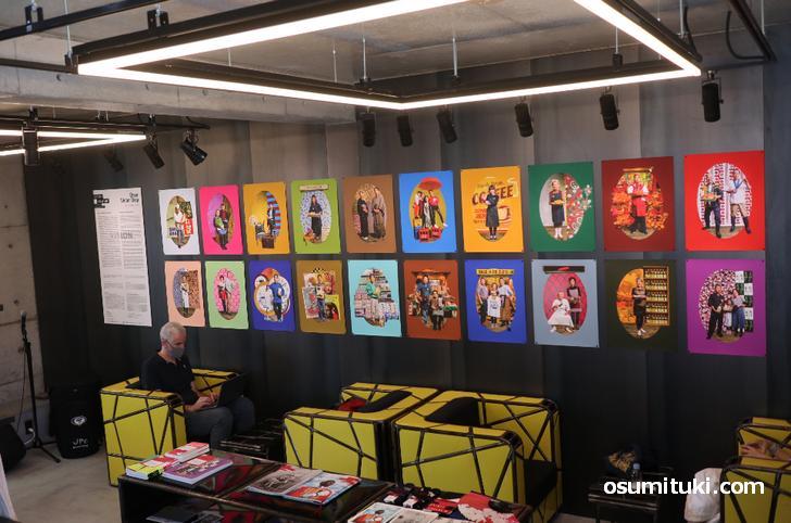ギャラリーでは京都国際写真祭の作品が展示されています