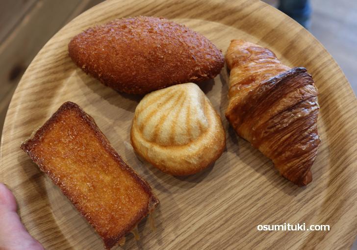 菓子パンや惣菜パンは140円・160円・180円のものがほとんど