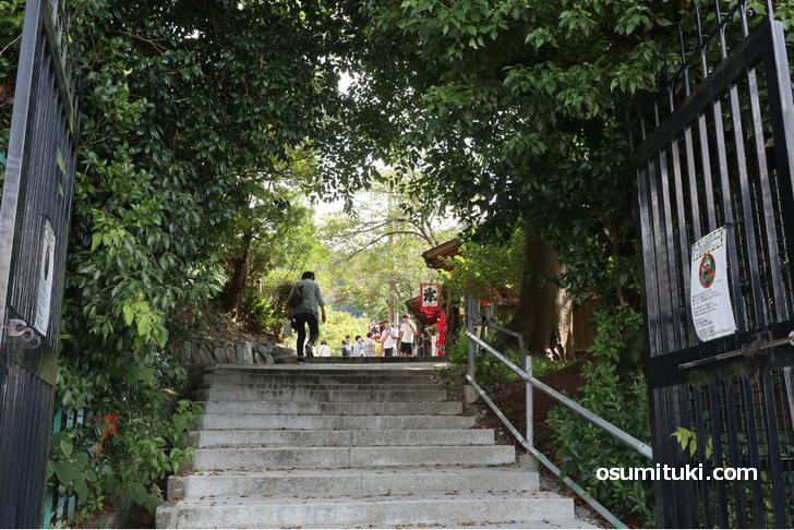 大谷道から清水寺へと入るところ、茶店があります