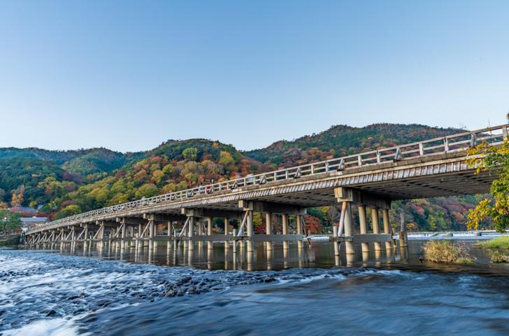 渡月橋、とても嵐山に行って来ました的な写真ですがそこは嵐山ではありません