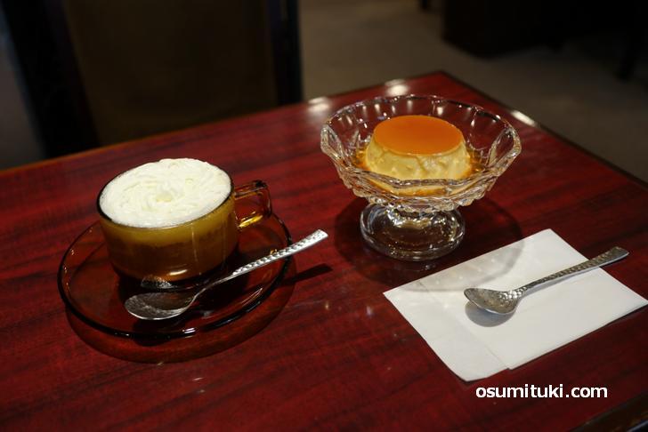 自家製プリン+ウインナーコーヒー(1200円)