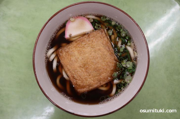 きつねうどん(450円)