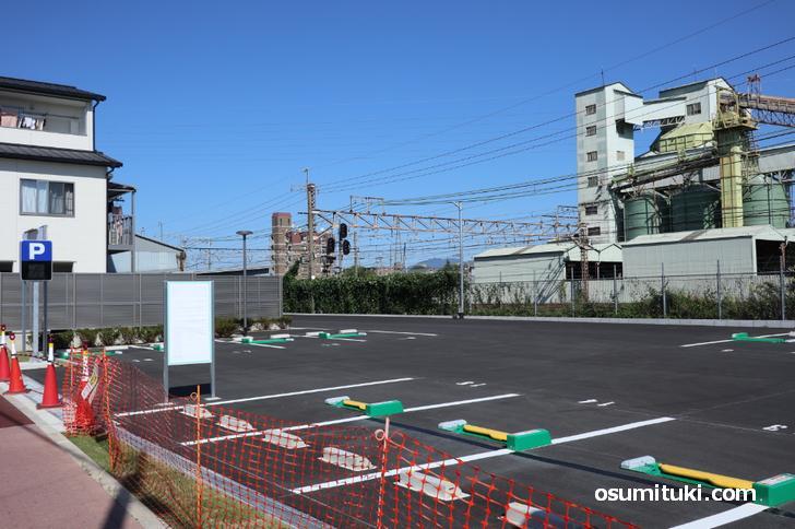 大型駐車場完備です(向日市観光交流センター まちてらすMUKO)