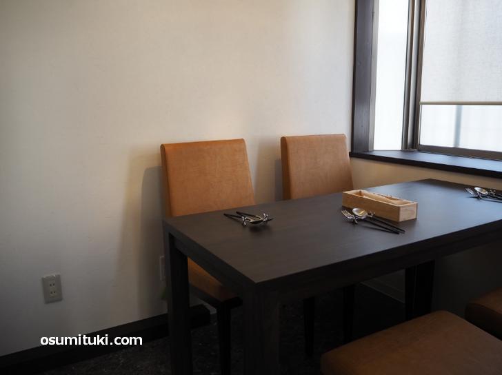 半個室の4名テーブル席もあります