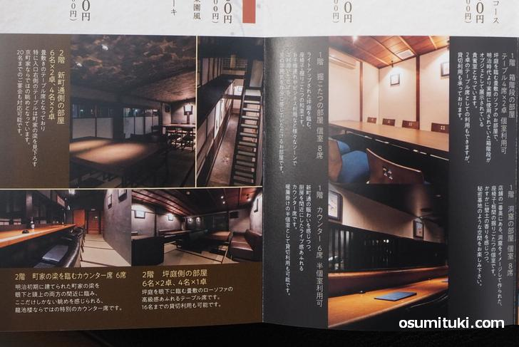 2階の部屋は畳敷きにテーブルという趣向