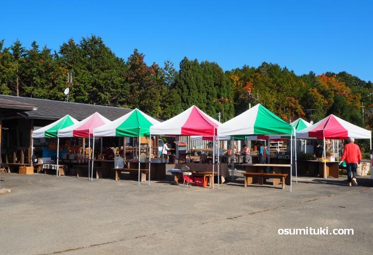 毎週日曜日に鷹峯で開催されている市場(鷹峯メルカート)