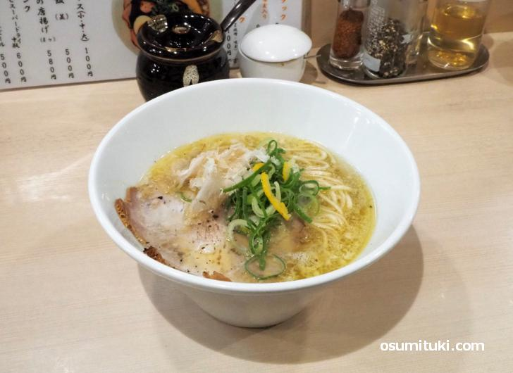 鶏塩らぁめん(850円)
