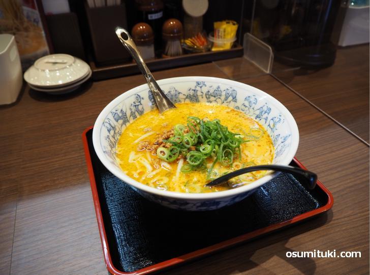 名物はタンタン麺ですが、ラーメンの種類が多いお店です